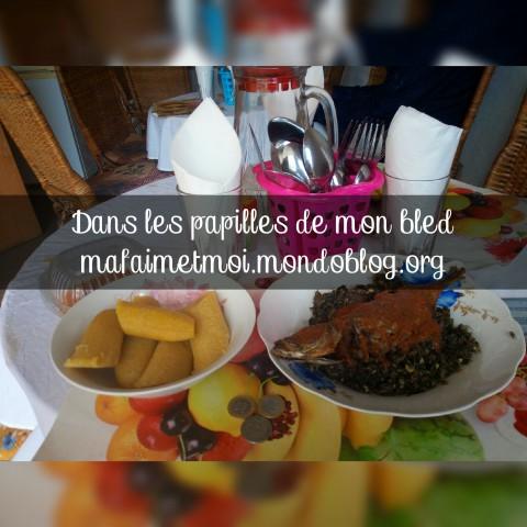 Mon plat de Njapche avec mon remboursement de 300 Francs CFA / Crédit Photo : Votre espionne culinaire