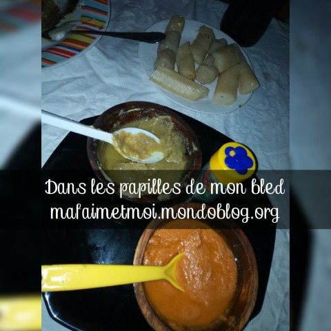 Service des condiments et compléments (bâtons de manioc) / Crédit Photo : Votre espionne culinaire