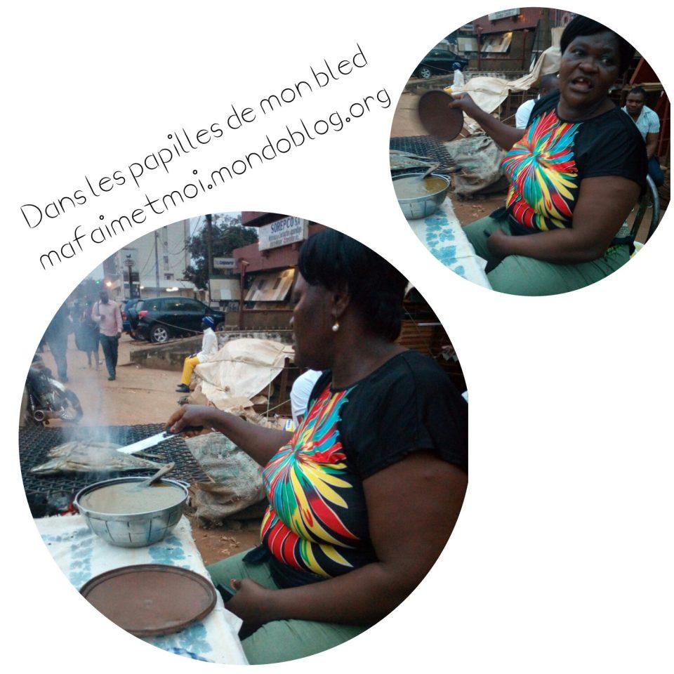 Ma'a Damaris en pleine action de braise 😊 / Crédit Photo : Votre espionne culinaire
